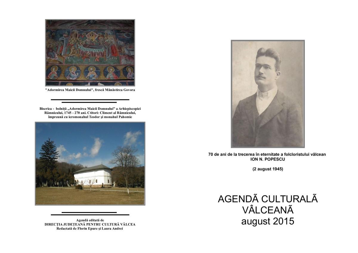 Agenda Culturala Valceana, august 2015