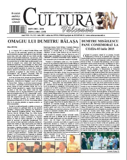 Cultura Valceana iulie 2015