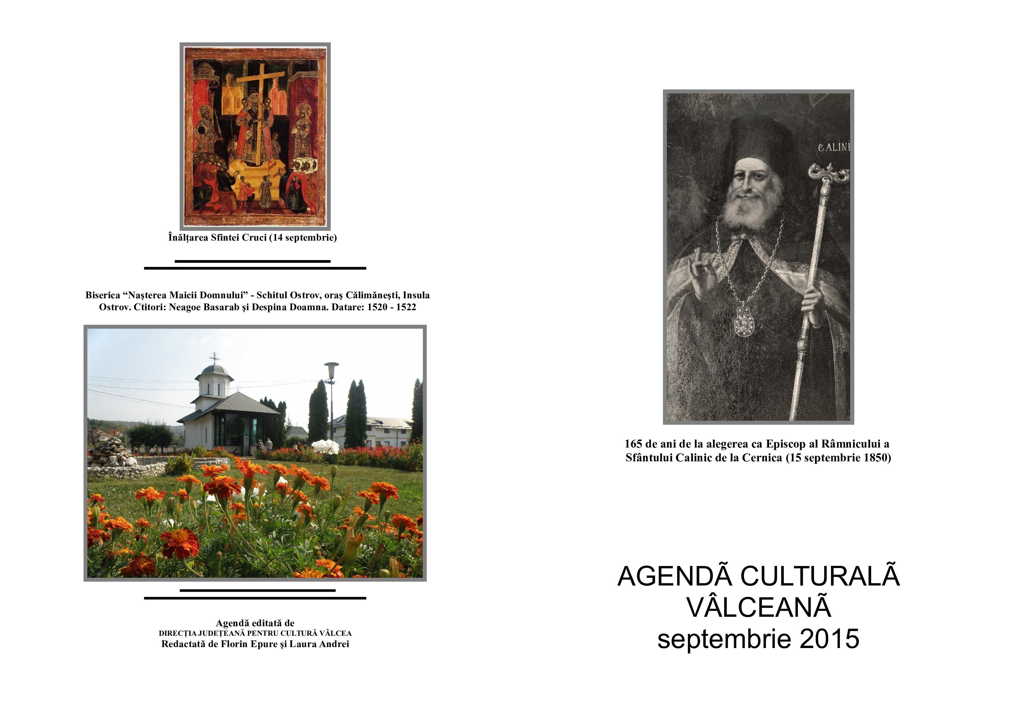Agenda Culturala Valceana, septembrie 2015