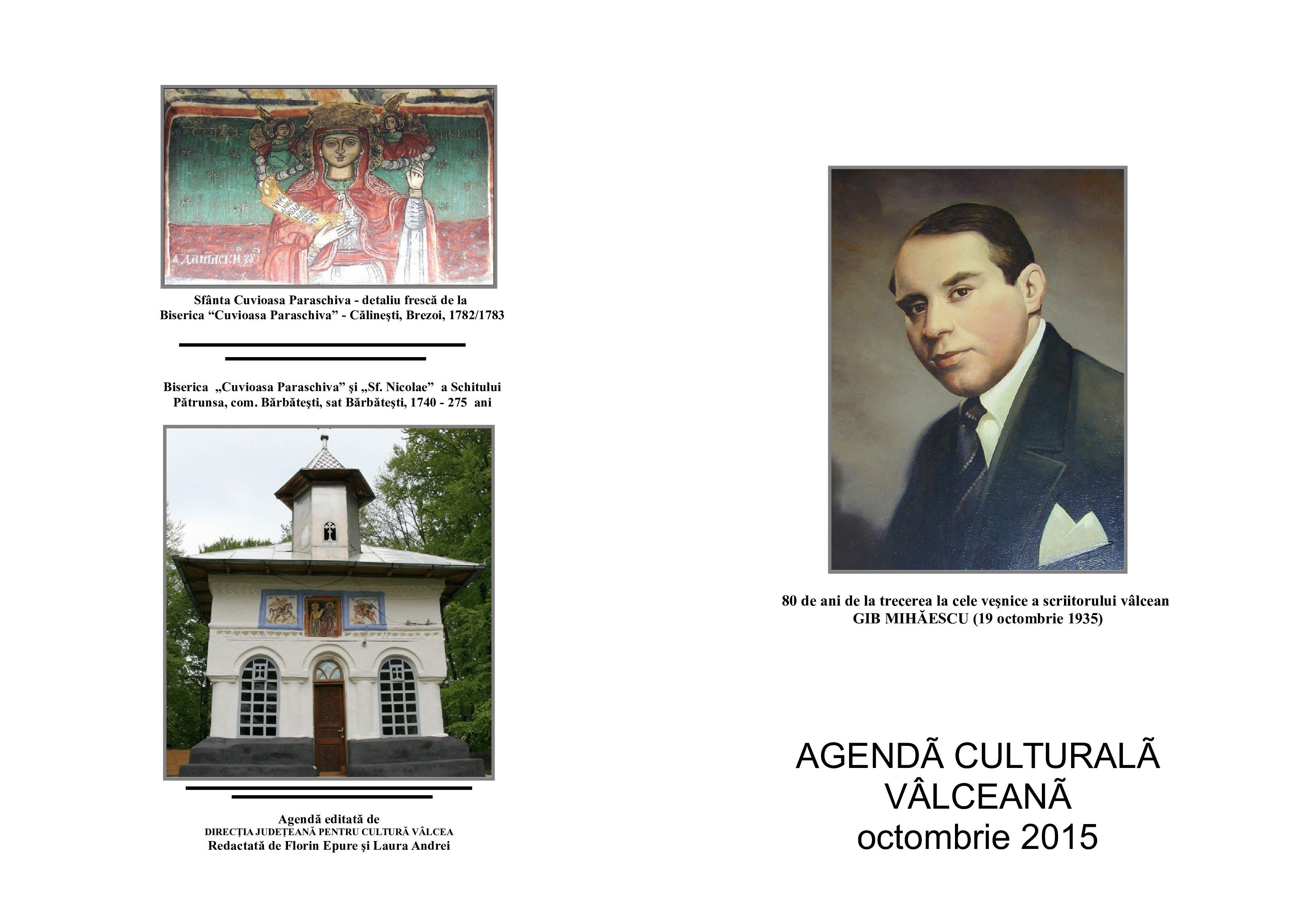 Agenda Culturala Valceana, octombrie 2015