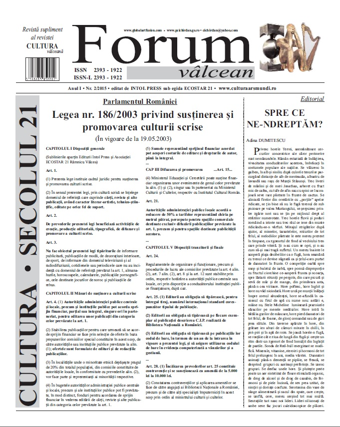 Forum valcean nr 2015
