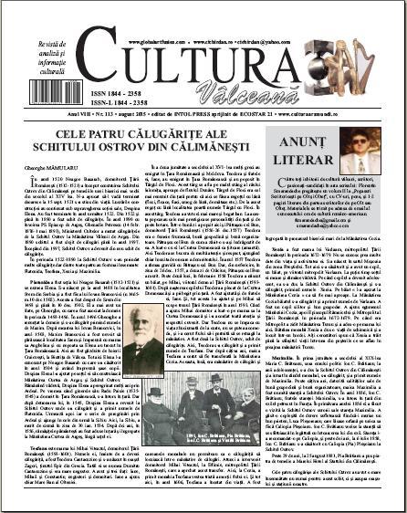 Cultura Valceana august 2015