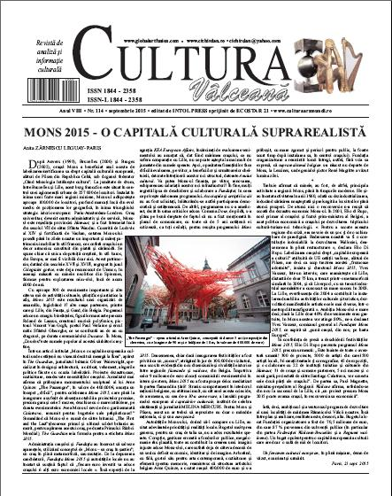 Cultura Valceana septembrie 2015