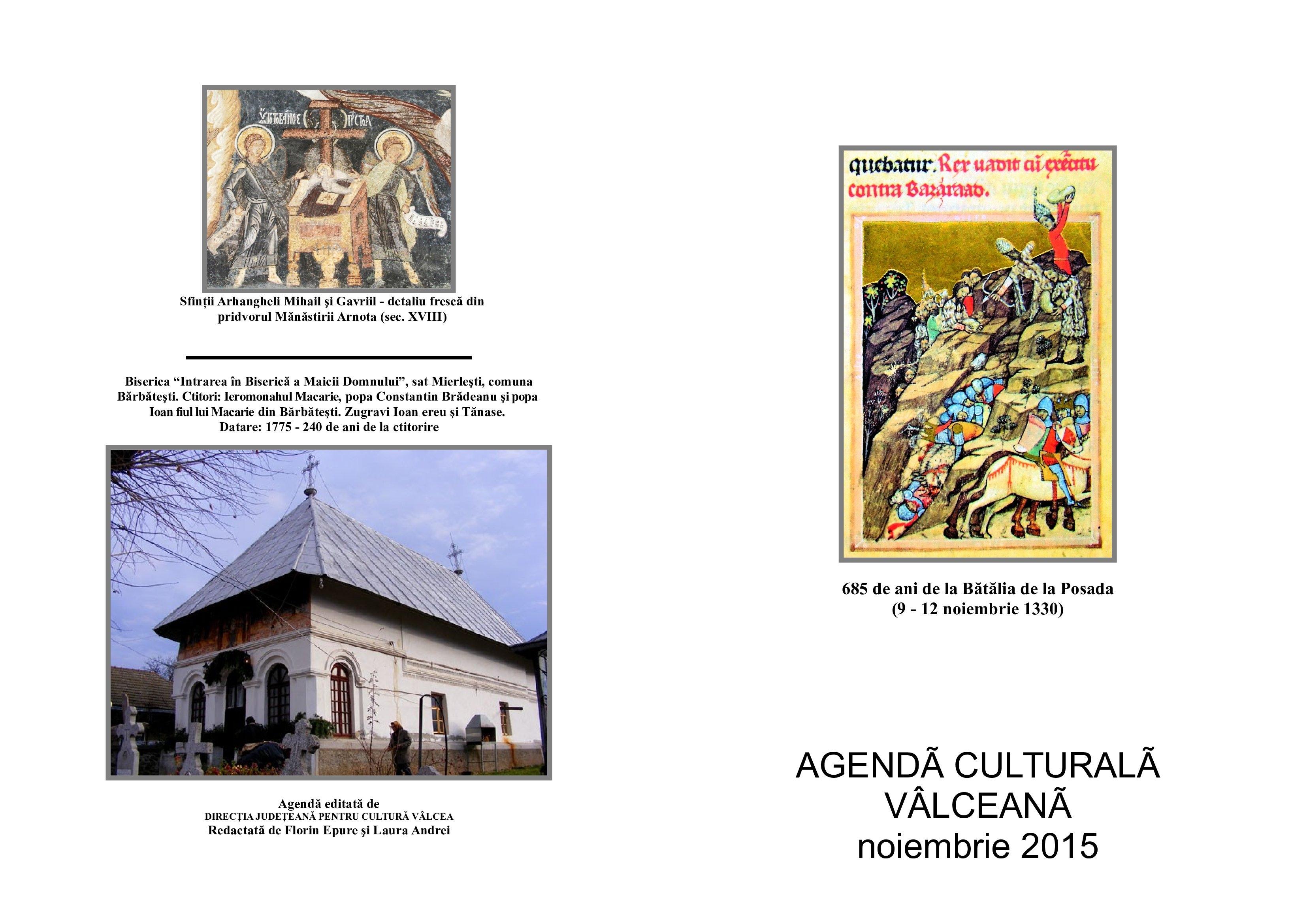 Agenda Culturala Valceana, noiembrie 2015