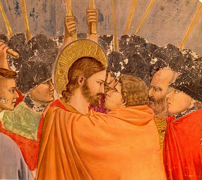 Iisus vede prin Iuda, Giotto
