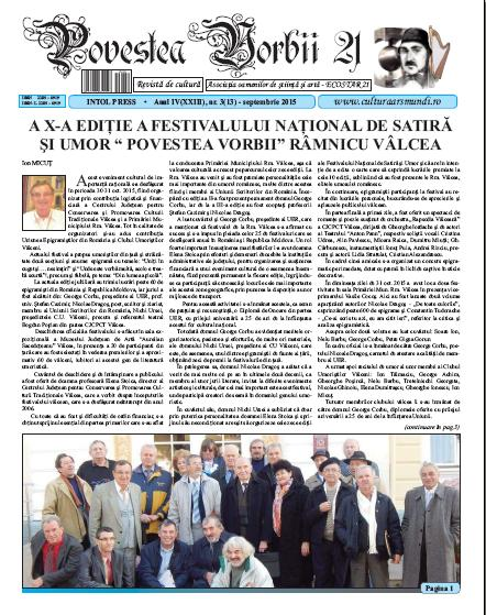 Povestea Vorbii septembrie 2015