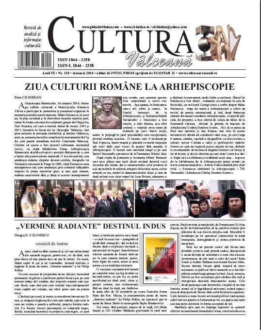 Cultura Valceana ianuarie 2016