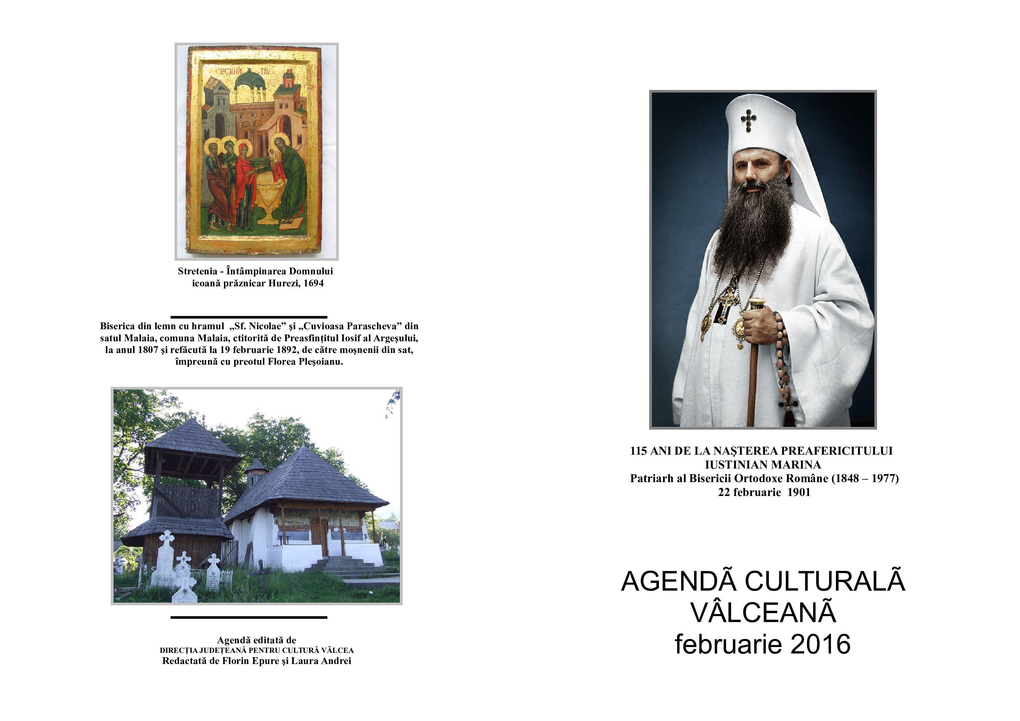 Agenda Culturala Valceana, februarie 2016