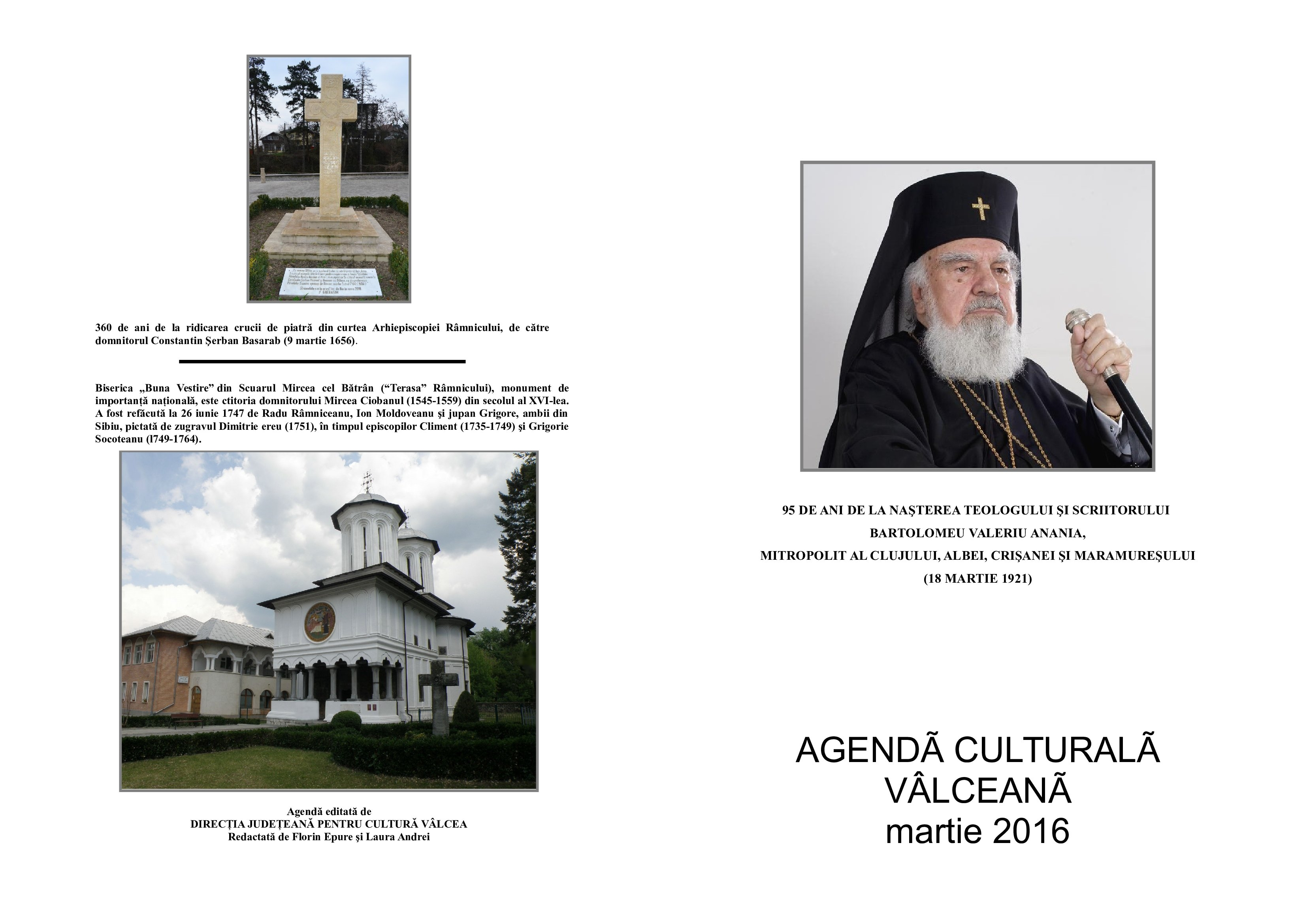 Agenda Culturala Valceana, martie 2016
