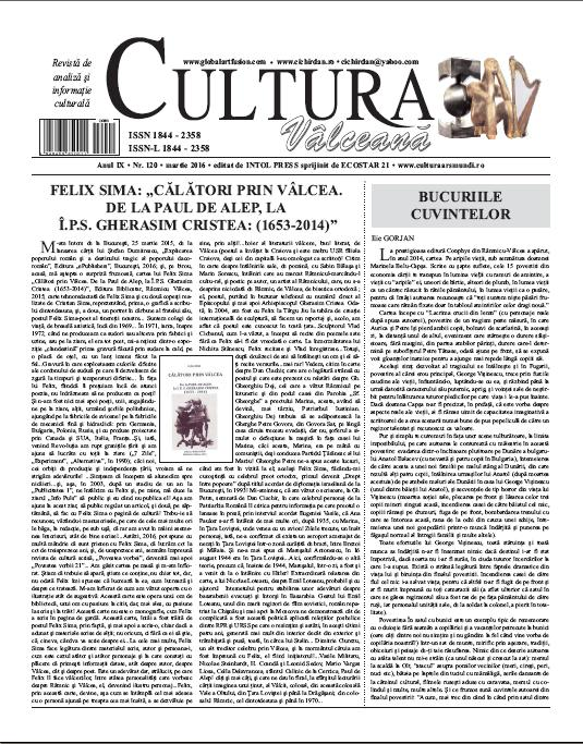 Cultura Valceana martie 2016