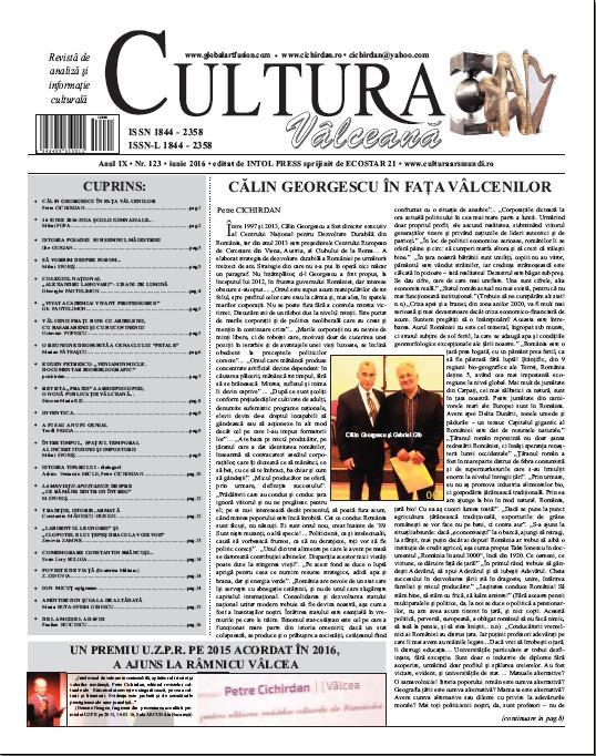 Cultura Valceana iunie 2016