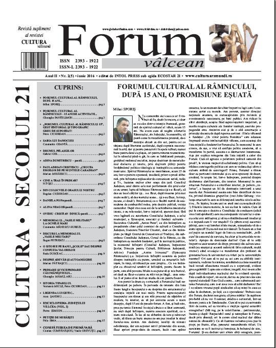 Forum valcean nr2 2016