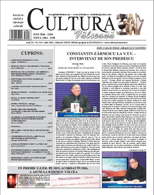 Cultura Valceana iulie 2016