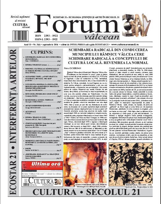 Forum valcean nr3 2016