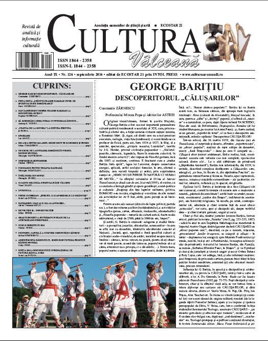 Cultura Valceana septembrie 2016