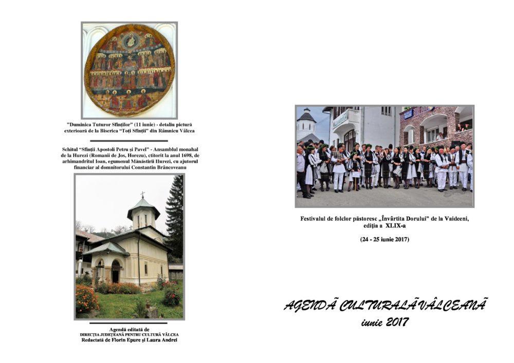 Agenda Culturala Valceana, iunie 2017