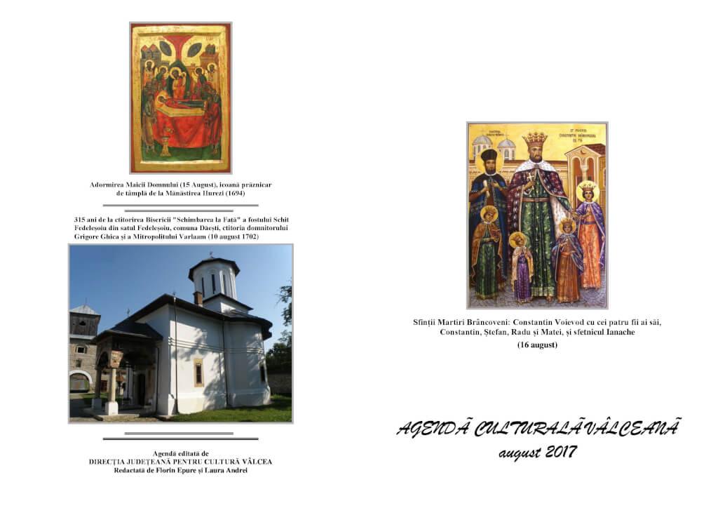 Agenda Culturala Valceana, august 2017