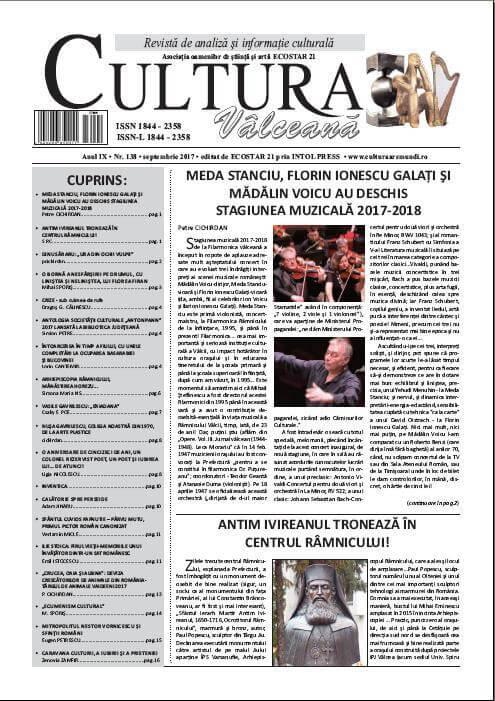 Cultura Valceana septembrie 2017