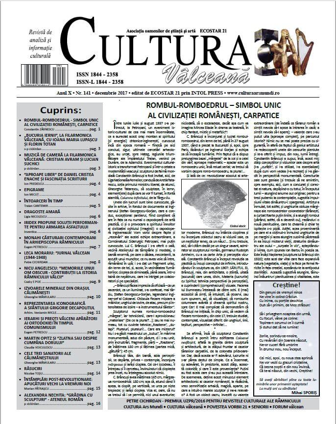 Cultura Valceana decembrie 2017