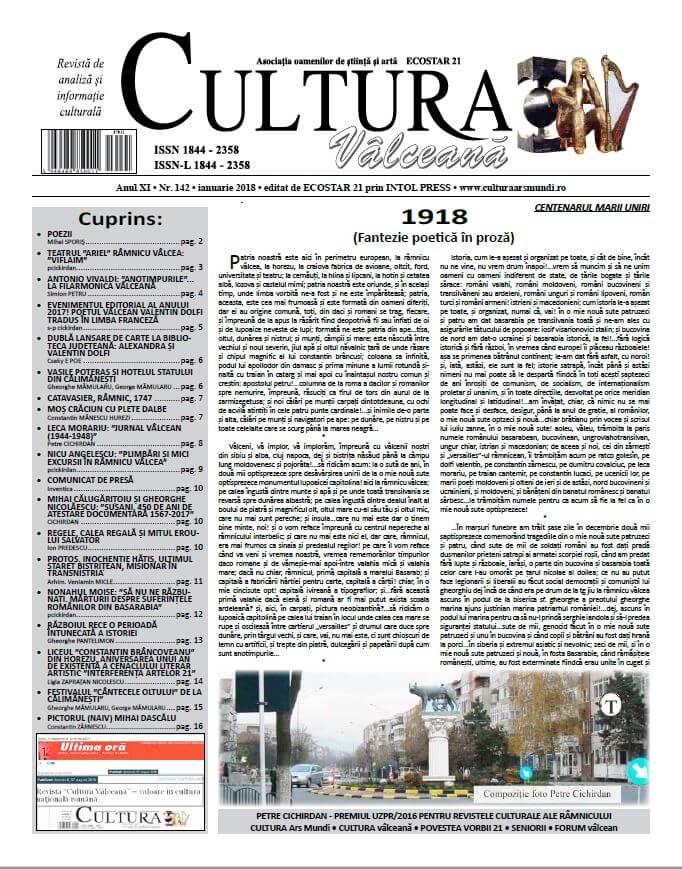 Cultura Valceana ianuarie 2018