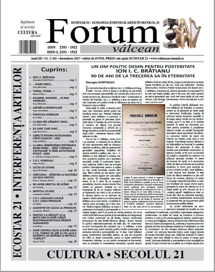 Forum valcean nr3 2017