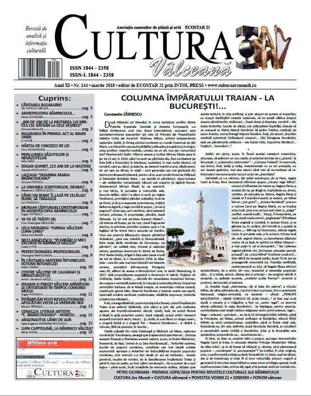 Cultura Valceana mar 2018