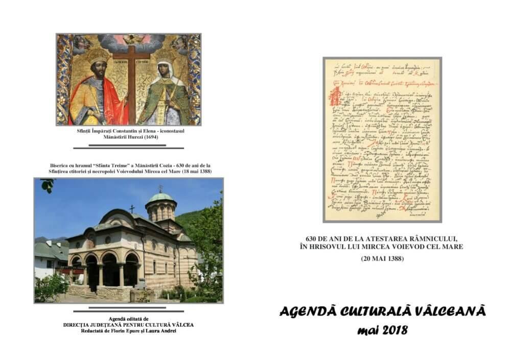 Agenda Culturala Valceana, mai 2018