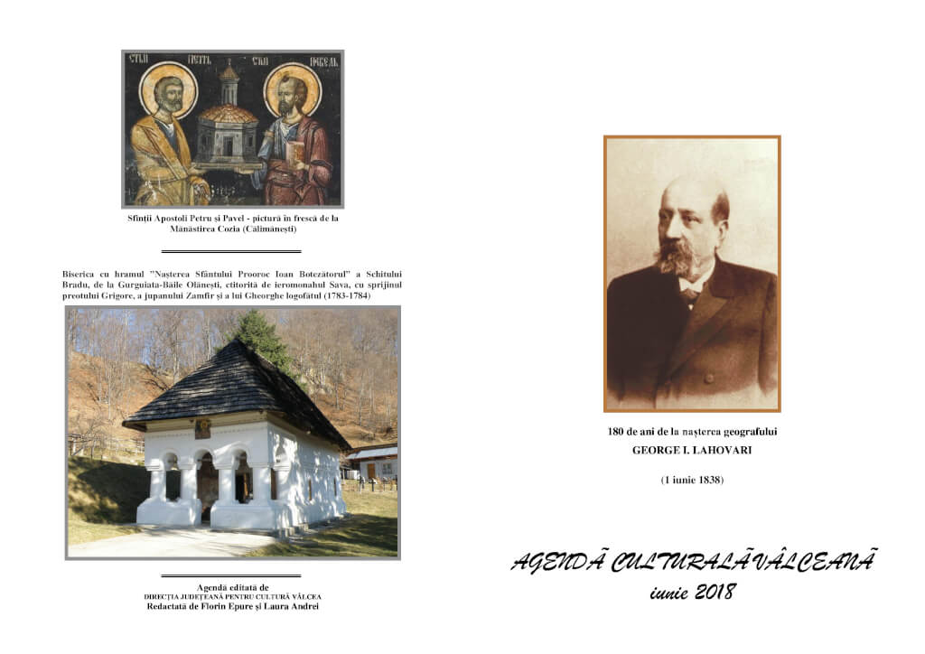 Agenda Culturala Valceana, iunie 2018