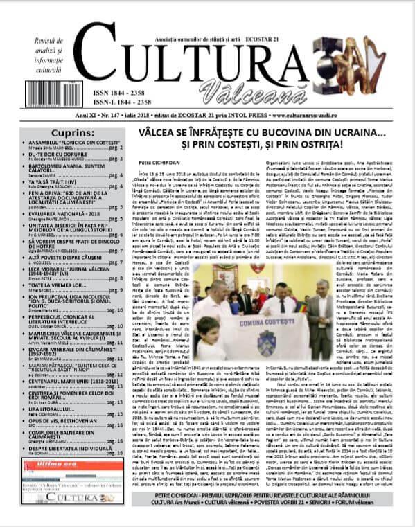 Cultura Valceana iulie 2018