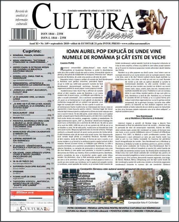 Cultura Valceana septembrie 2018