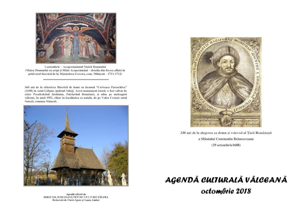 Agenda Culturala Valceana, oct 2018
