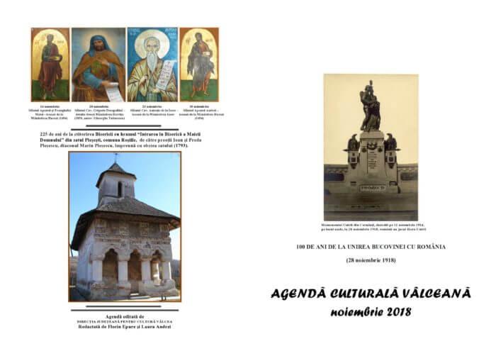 Agenda Culturala Valceana, noiembrie 2018