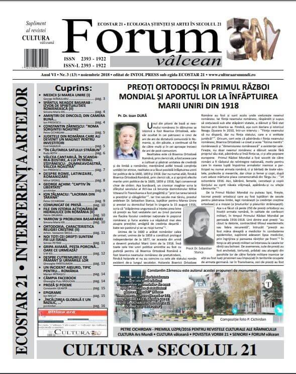 Forum valcean nr3 2018
