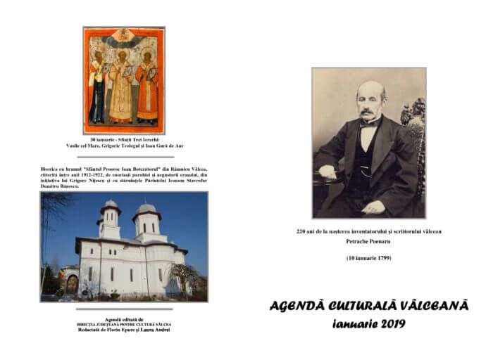 Agenda Culturala Valceana, ian 2019