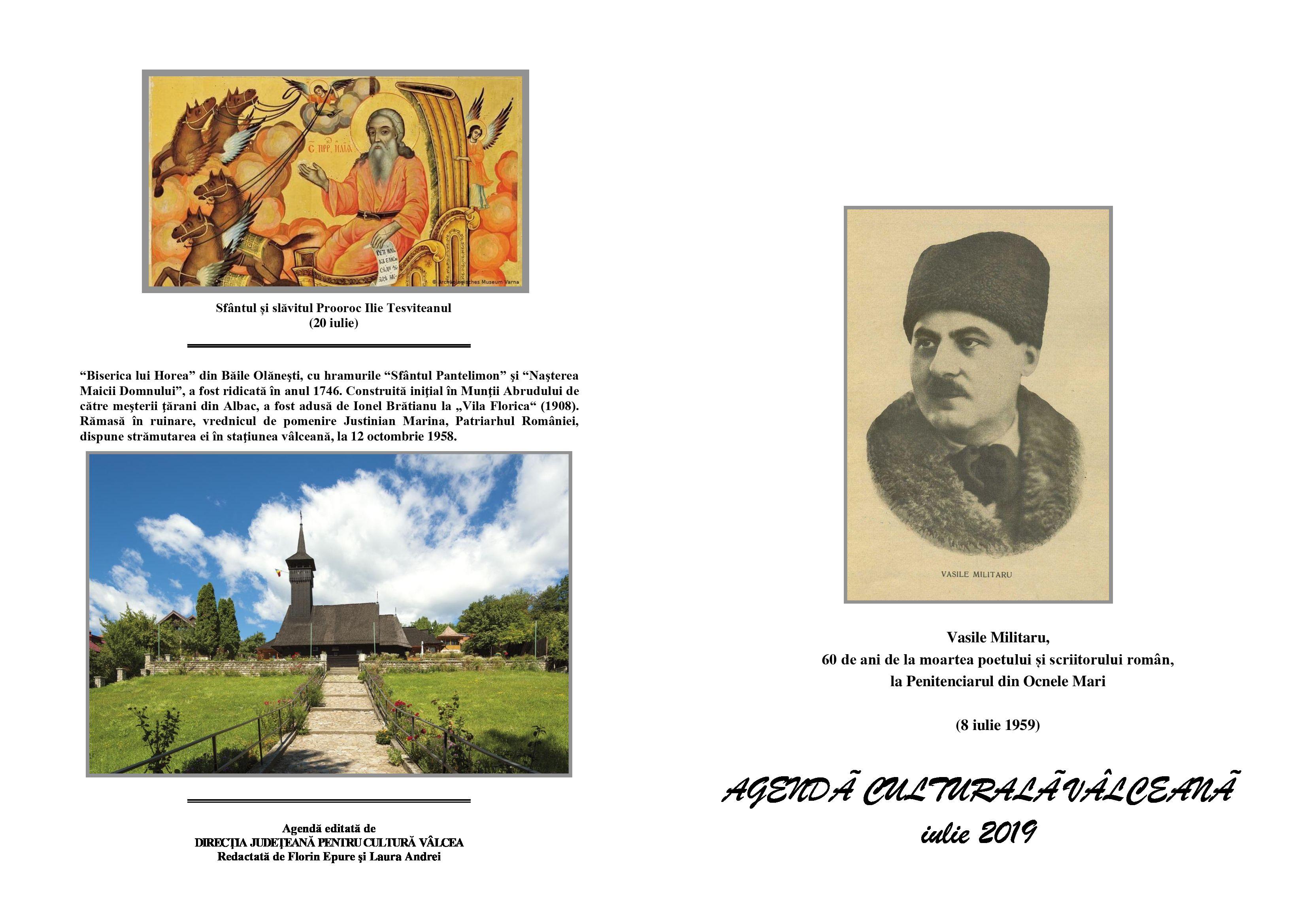 Agenda Culturala Valceana, iul 2019