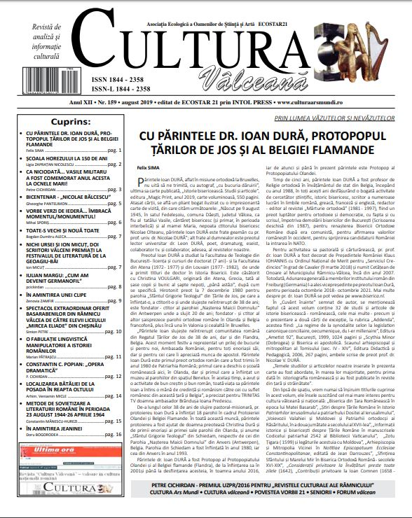 Cultura Valceana aug 2019