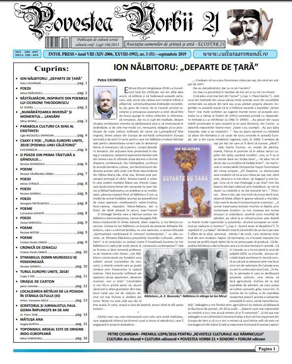 Povestea Vorbii oct 2019