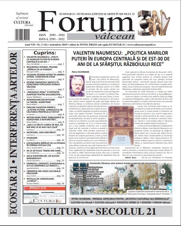 Forum valcean nr3 2019