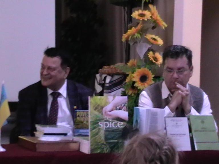 Edmond Neagoe și Călin Brătean - Simpozion Cernăuți 16 11 19