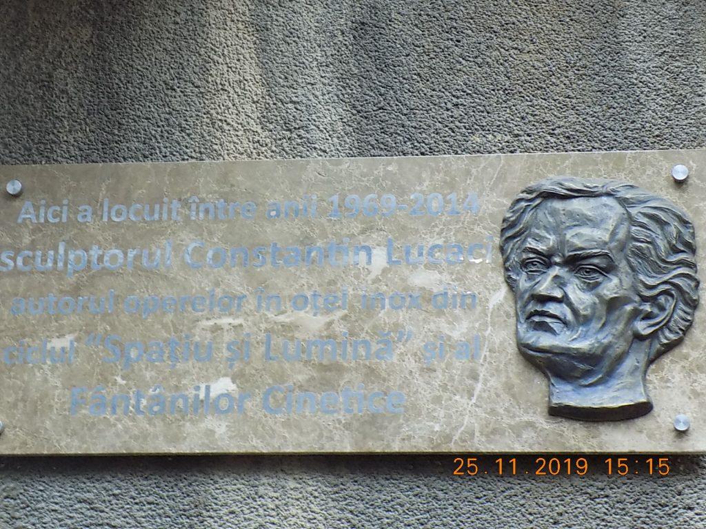 Placa memorială la locuința lui Lucaci 25 11 19