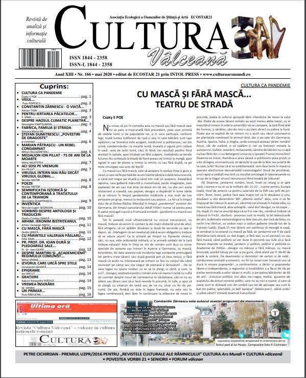 Cultura Valceana mai 2020