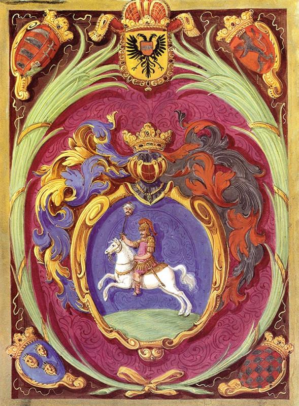 Stemă oferită lui C Brancoveanu de Leopold I...