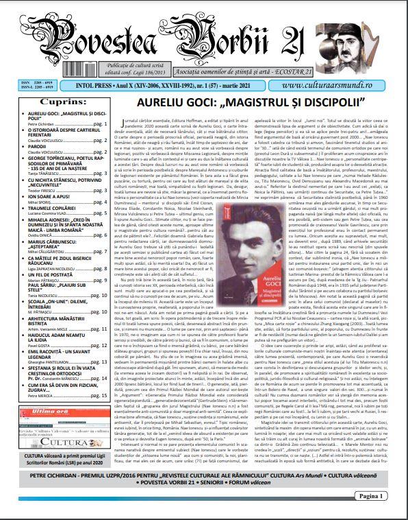 Povestea Vorbii mart 2021