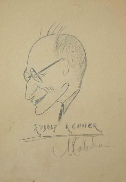 Rudolf Rener - desen de M. Cichirdan