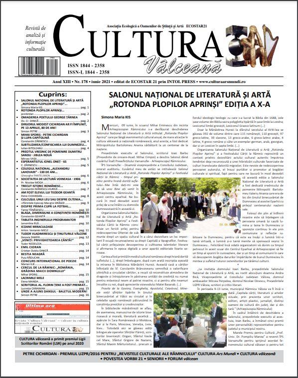 Cultura Valceana iunie 2021