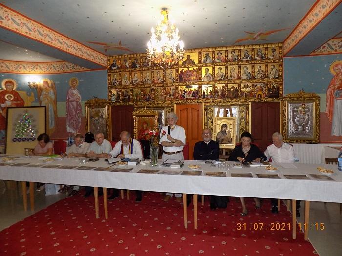 Gen. Chelaru intre participanti...Manastirea Antim Troianu 31 07 21...foto spc